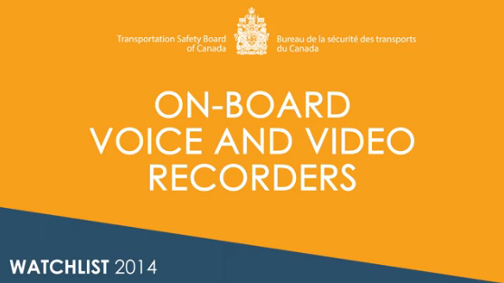 Image from the on-board video and voice recorders video